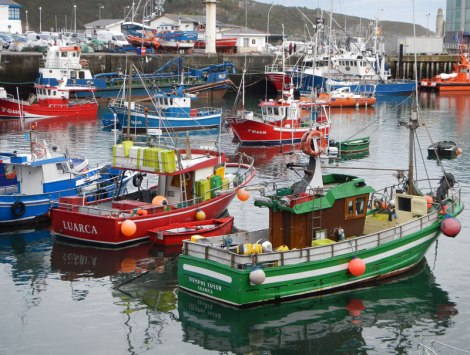 Fishing Boats in Luarca, Spain