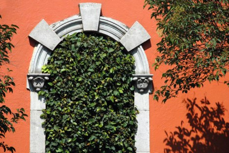 a 'green' door in San Angel, Mexico