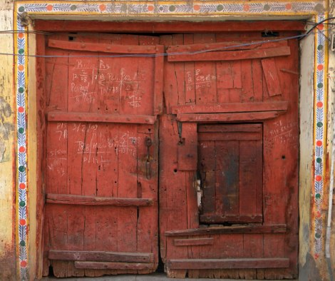 A red door in India