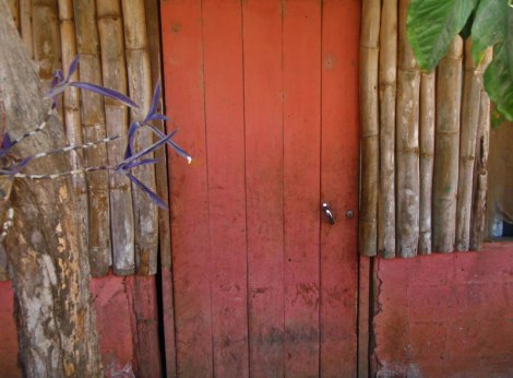 A Pink Door in Costa Rica