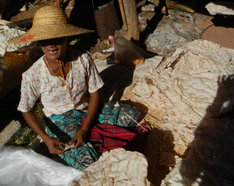 Inle Lake Village Market: Puffed Rice Snack