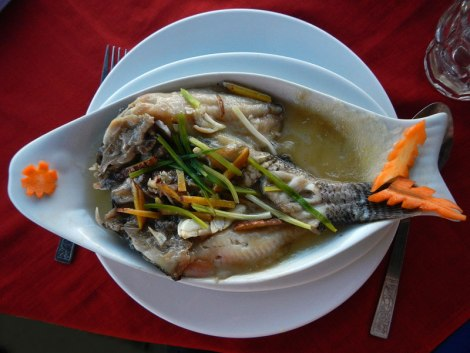 Inle Lake lunch: Fish from the Lake