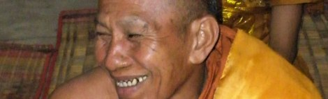 Laughing Monk at Angkor Wat