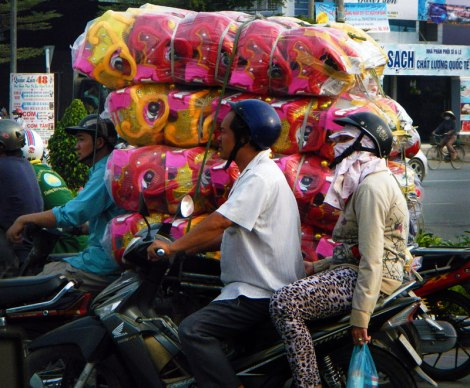Saigon: Overloaded Motorcycle