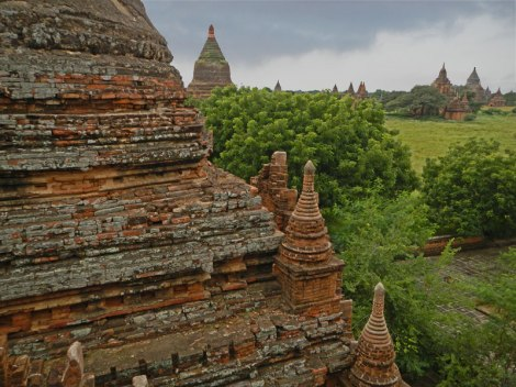 View of a Small Few of Bagan's Temples from Ananda Phaya