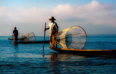 Inle Lake Fishermen In a Dream