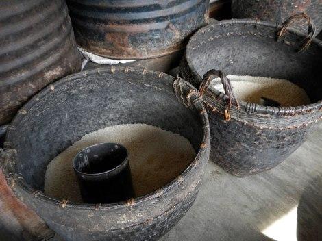 Inle Lake Market: Baskets of Rice