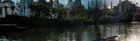Inle Lake Magical Stupas at Sunset