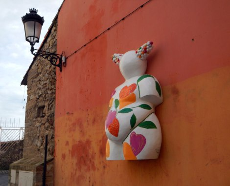 One of Aviles' Quirky Mascot Sculptures