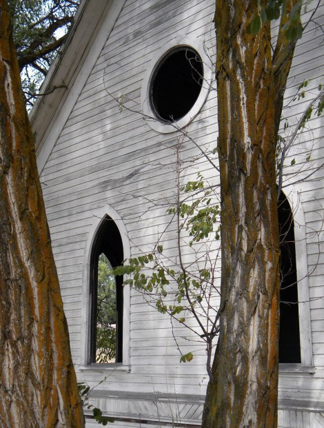 old abandoned wood church