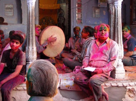 Holi in the Temple