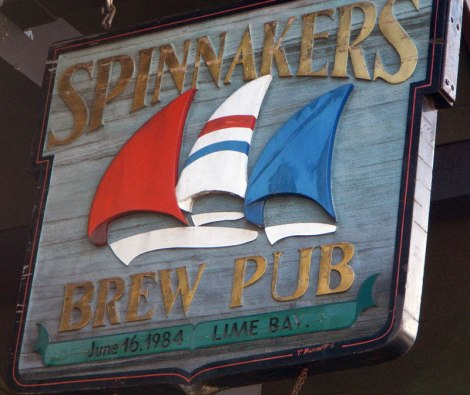 Spinnakers Brewpub is one possible stop on the Esquimalt to Victoria Harbour Walk