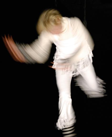 Dancing in the dark under the bridge (Winterruption performance, Vancouver