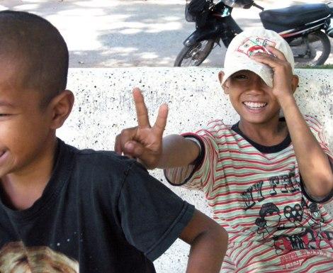 Children having fun in Siem Reap, Cambodia