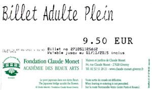 Billet Entrance to Monet's Garden