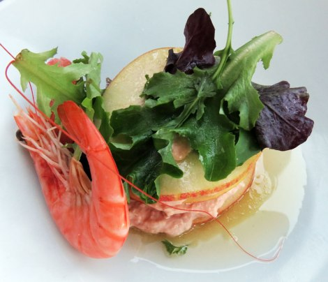 In Amiens Al chose Crab Mille Feuilles for his dinner