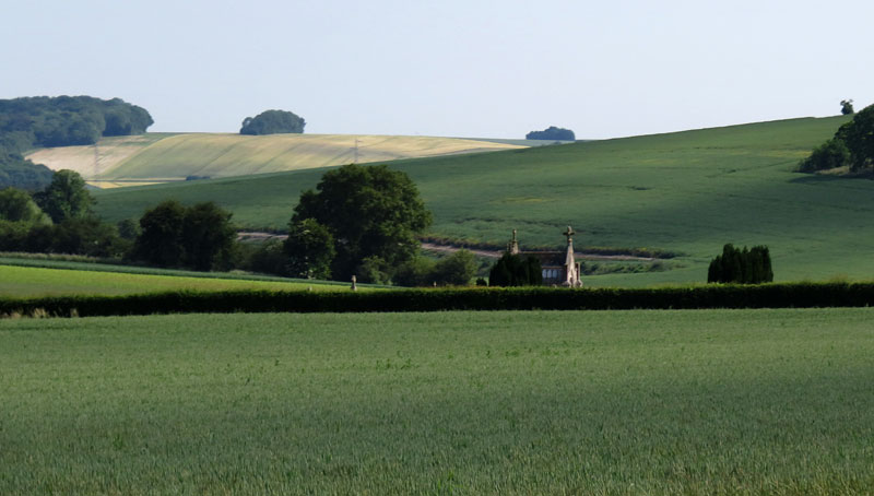 A Church in the Landscape on the Road to Rouen