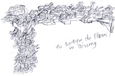 Diary Sketch of Rose Arbour in Giverny