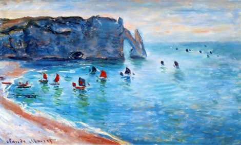 Painting of Entretat by Monet