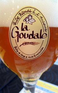 Lunch in a Village near Lens with La Goudale Beer