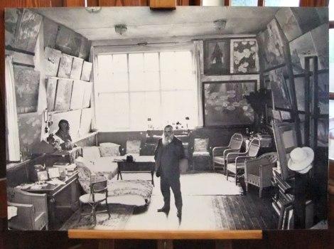 Monet in his studio