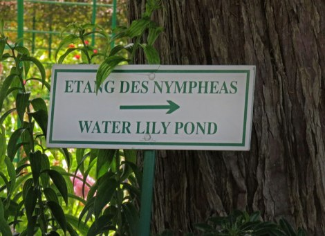 Monet's Garden Sign to Pond