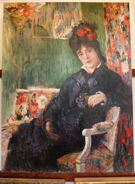 Monet's painting of a woman in his sitting room