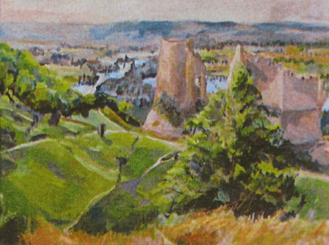 Painting of the Ruins of Chateau Gaillard
