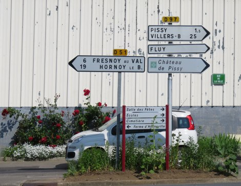 Road Signs on the Way to Rouen