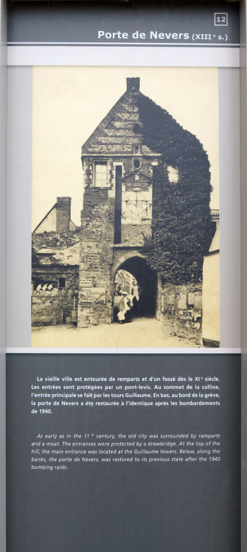 Sign in the Medieval Village at St-Valery-sur-Sommes