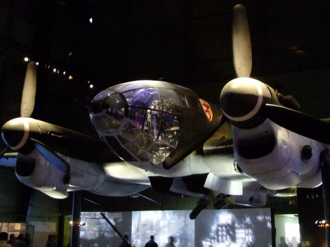 A German Plane at the World War II Exhibit in Rotterdam, Holland