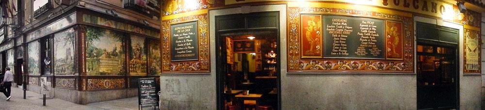 Tiled mural cafes in Madrid, Spain