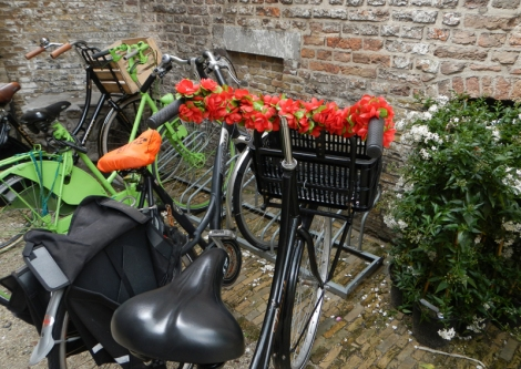 A decorated bicycle in Gouda, Holland