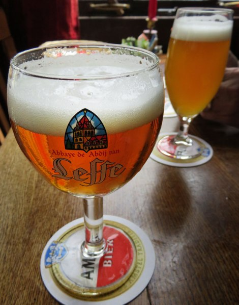 Having a Leffe Beer in Amsterdam's Café Papeneiland