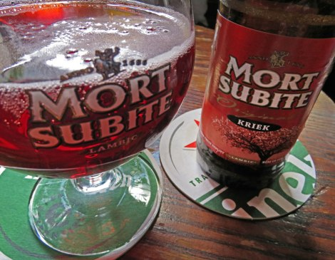 A Mort Subite Kreik at Cafe 't Smalle in Amsterdam