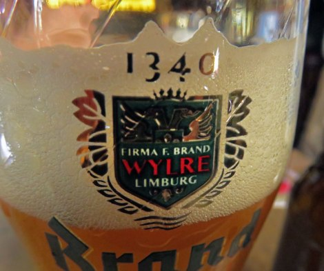 Brand Beer, been around since 1320, in Café Chris, been around since 1624