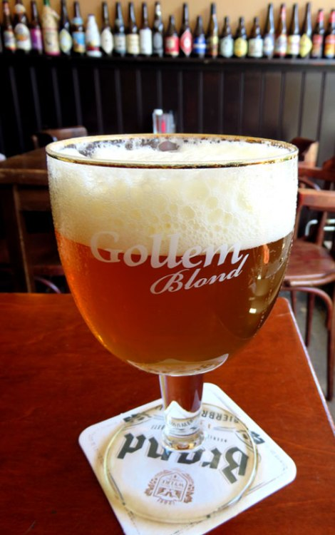 Blond Beer in Gollem's Proeflokaal in Amsterdam, Holland