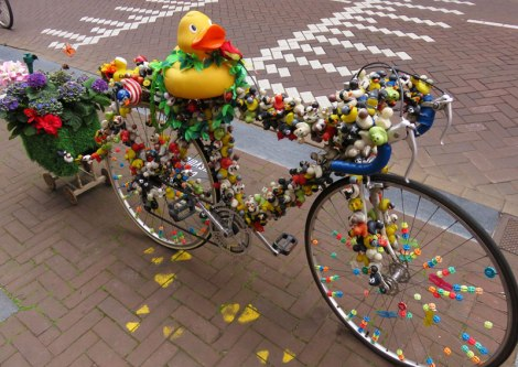 An art bicycle in Amsterdam