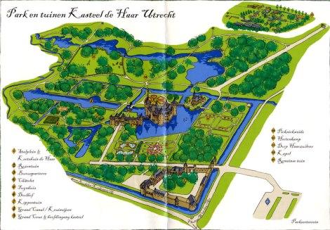 Map of Kasteel de Haar