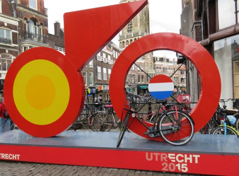 Utrecht's Tour de France Bicycle Race Sculpture