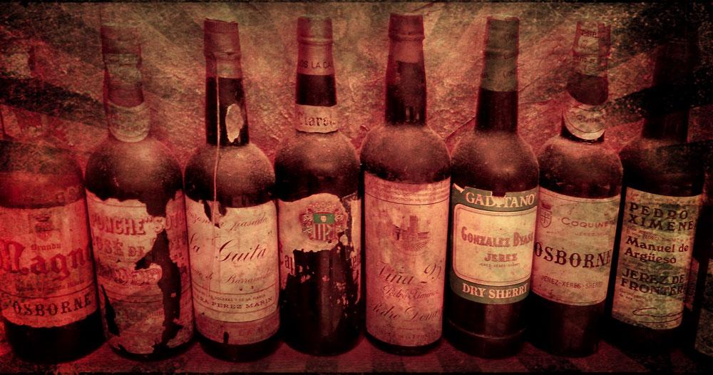 Spanish wine bottles in Pixlromatic