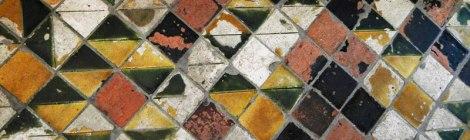 The tiled floor in Ghent's Bell Tower (Belgium)