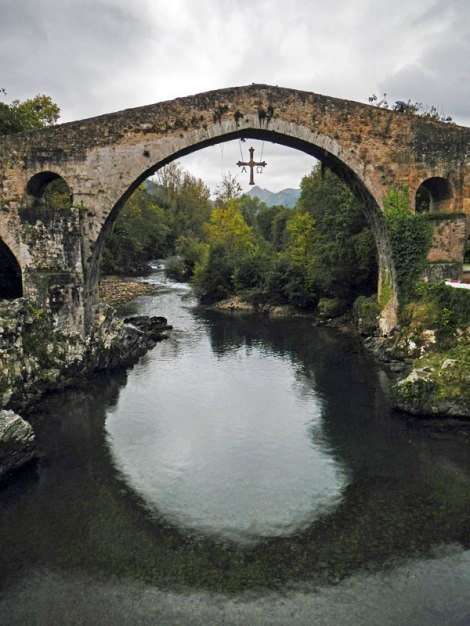 The Roman bridge in Cangas de Onís