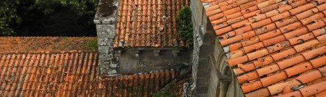 The Red-Tiled Roof of the Ruinas del Monasterio Sil