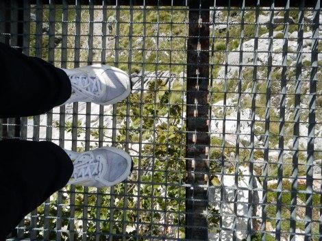 A grate with the Picos de Europa beneath my feet