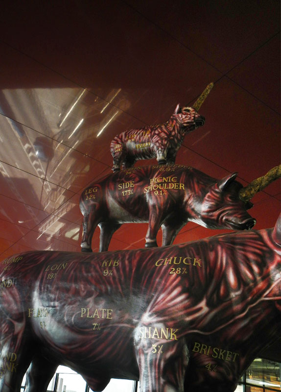 Madrid's Reina Sofia Modern Art Museum Art: Sculpture of 'Meat'