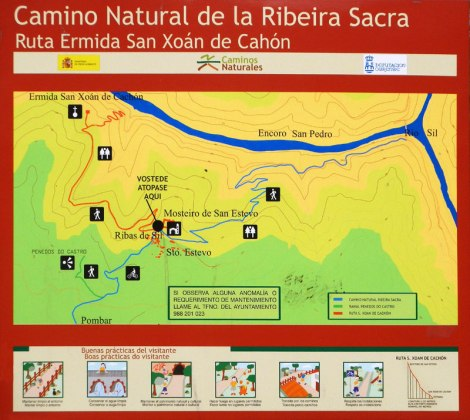 Ribeira Sacra Walks Sign