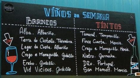 Santiago de Compostela Vino sign