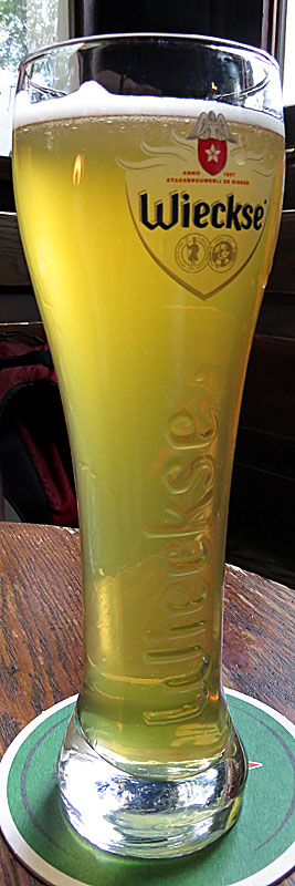 Wieckse Witte Beer at Cafe 't Smalle Pub