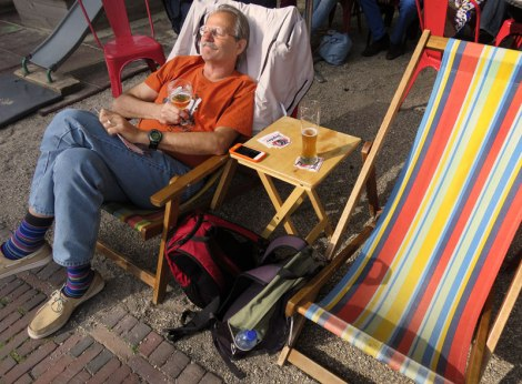 Delft's Cafe LEF Had Comfy Lawnchairs